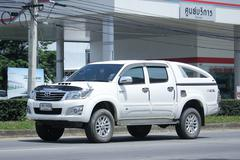 Private Pickup car, Toyota Hilux. Stock Photos