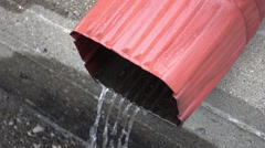 Water spout runoff Downspouts Downspout Stock Footage