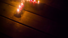 Candles ritualistic witchy ritual spellcraft spell magick Stock Footage