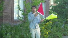 Flag flagging symbolism symbol Stock Footage
