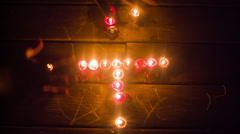 Sigil magick wicca candles Stock Footage