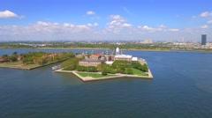 Ellis Island aerial Stock Footage