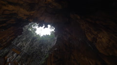 Inner view of Batu Caves, Malaysia Stock Footage