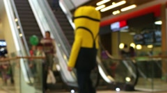 Shopping time lapse blurred motion Stock Footage