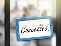 Cancelled hanging sign Stock Illustration