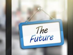 The future hanging sign Stock Illustration