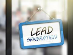 Lead generation hanging sign Stock Illustration
