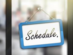 Schedule hanging sign Stock Illustration