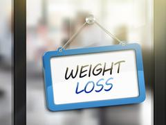 Weight loss hanging sign Stock Illustration