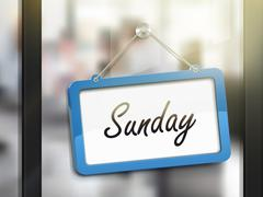 Sunday hanging sign Stock Illustration