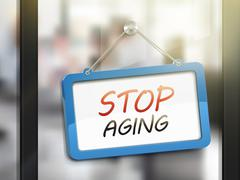 Stop aging hanging sign Stock Illustration