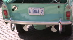 Amphicar the amphibious car for land and water driving Stock Footage