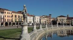 Padua Prato della Valle gardens Stock Footage