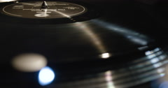 Vintage Vinyl Record Player - closeup - 4k Stock Footage