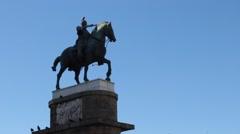 Padua Knight Statue Stock Footage