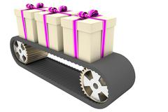 Conveyer belt and gifts Piirros
