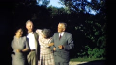 1951: people are seen posing together holding each other WILLMAR, KENTUCKY Stock Footage