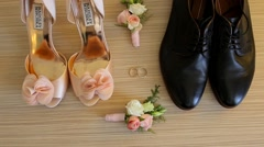 Wedding Accessories Bride and Groom Stock Footage