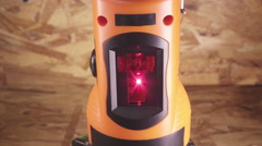 The laser measurement level for construction works Stock Footage