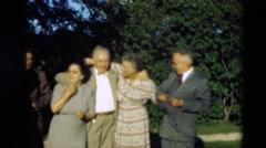 1951: loving family WILLMAR, KENTUCKY Stock Footage