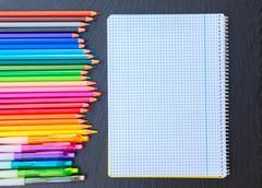 Back to school pencils Stock Photos