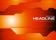 Dark orange hi-tech corporate background Stock Illustration