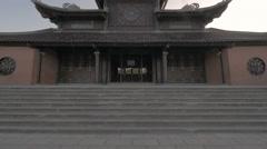 Buddhist pagoda in Bai Dinh Temple, Vietnam Stock Footage