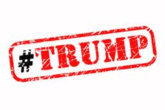Trump hashtag rubber stamp Stock Illustration
