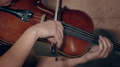 Violinist Playing / Violin Player / Orchestra Musician Stock Footage