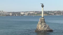 Monument to the Scuttled Ships Stock Footage