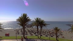 TENERIFE, SPAINAerial view of Playa de Las Americas Stock Footage