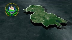 Santa Ana with Coat Of Arms Animation Map Stock Footage