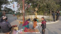 Lucky coins sellers,Kathmandu,Swayambhunath,Nepal Stock Footage