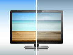 Comparison of TV resolution Stock Illustration