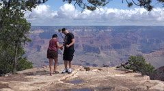 Couple taking a selfie in Grand Canyon Stock Footage