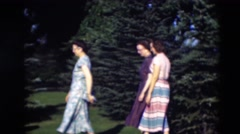 1951: a family portrait in a beautiful landscape in the countryside WILLMAR Stock Footage