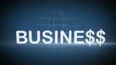 Business with Earth on the back background. Stock Footage