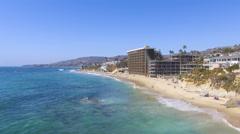 Rise Above Main Beach, Laguna Beach, Southern California Stock Footage