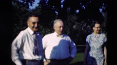 1951: 2 men and 3 women standing side by side in nice clothing WILLMAR, KENTUCKY Stock Footage