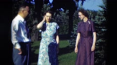 1951: group of people gathered outdoors WILLMAR, KENTUCKY Stock Footage