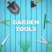 Background of Season Garden tools Stock Illustration