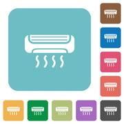 Flat air conditioner icons Piirros
