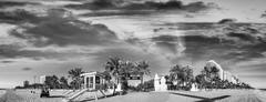 Black and white panoramic view of Fort Lauderdale Beach - Florida Kuvituskuvat