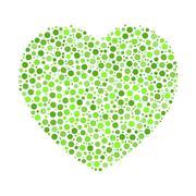 Heart mosaic of dots Stock Illustration