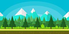 Flat style game background Stock Illustration