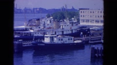 1954: a relaxing ride down the river NEW YORK Stock Footage