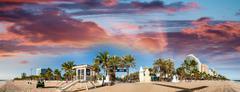 Beautiful beach of Fort Lauderdale. Panoramic coastline view near Beach Boule Kuvituskuvat