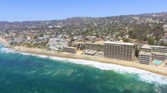 Skyline of Main Beach, Laguna Beach, Southern California Stock Footage