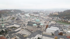 Salzburg, Austria - View from the fortress (slight zoom in) Stock Footage