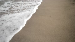 Waves Rolling Up White Sandy Beach. Stock Footage